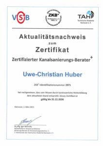 Zertifizierung Kanalsanierungsberater +