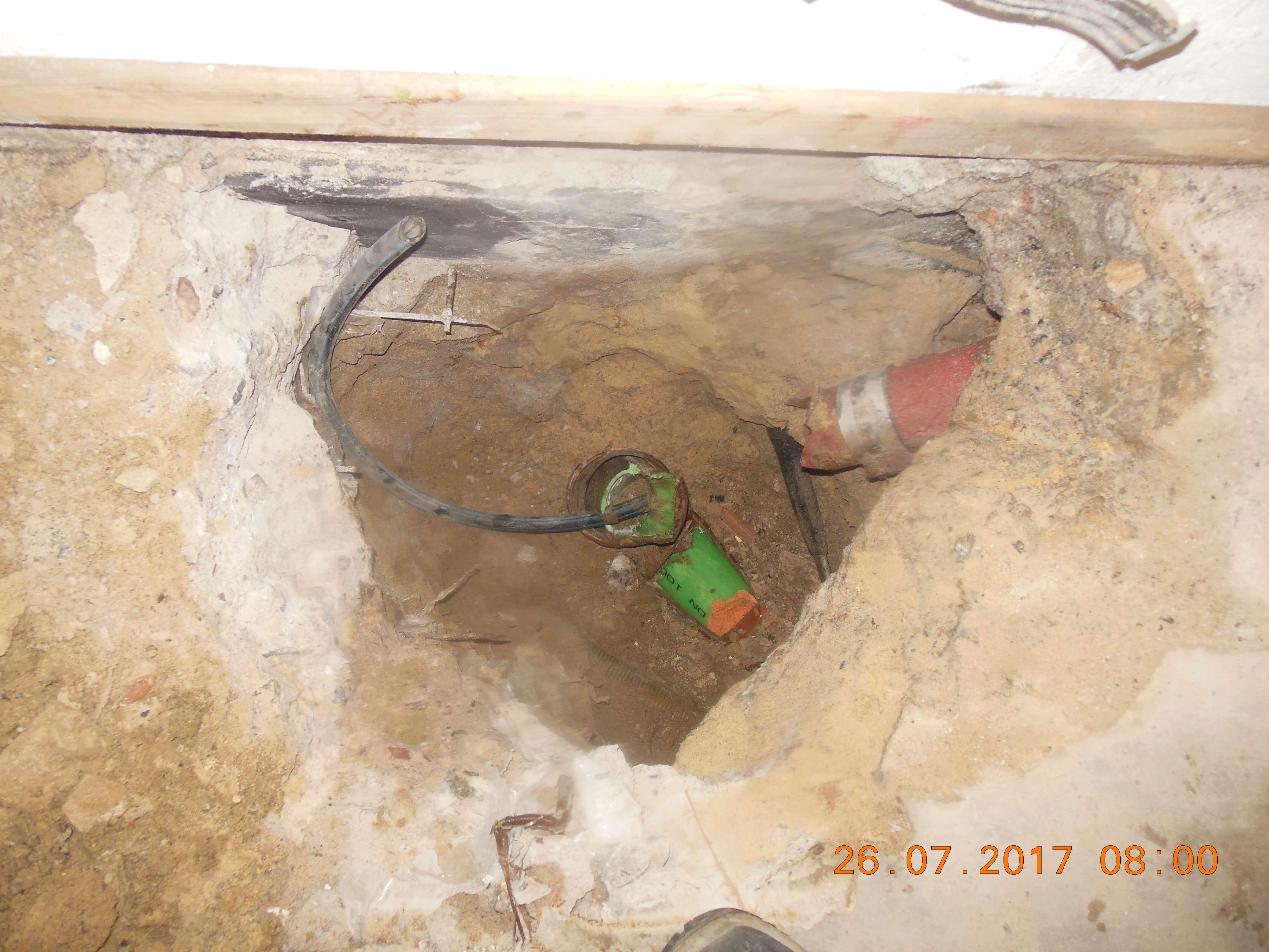 5a defekte Leitung vorher
